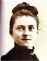 St. Therese of Lisieux, also known as St. Therese Little Flower of Child Jesus or just Little Flower at the age of 15 before entering the Carmel - Prayer:  Show me how I may follow your little way to Christ's love. Give me the strength to endure and grow in His goodness. Thank you for your profound example!