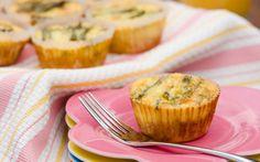 Crab & Asparagus Quiche Cupcakes on PaulaDeen.com
