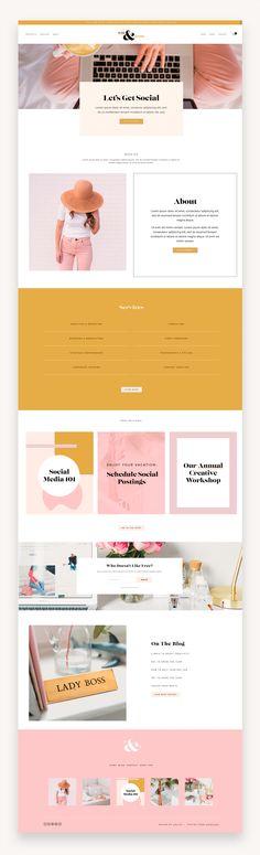 Website Design Layout, Website Design Inspiration, Brand Inspiration, Minimal Web Design, Web Design Projects, Newsletter Design, Website Themes, Branding, Templates
