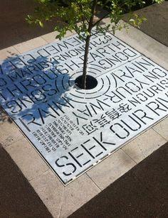 nice environmental design by 'Heine Jones' a graphic design studio in Yarraville