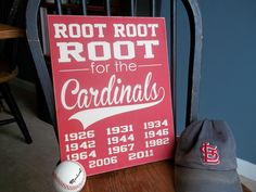 St. Louis Cardinals 12 x 15  Wooden Sign by OrchardHouseSigns, $36.00