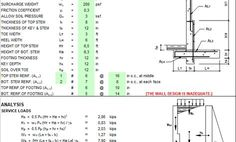 Concrete retaining Wall design Spreadsheet Retaining Wall Design, Concrete Retaining Walls, Retaining Wall Construction, Microsoft Office, Civil Engineering, Science, Steel, Architecture, Tables