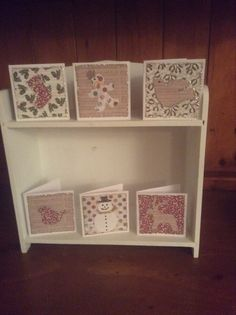 More mini Christmas cards made from Craftwork Cards papers