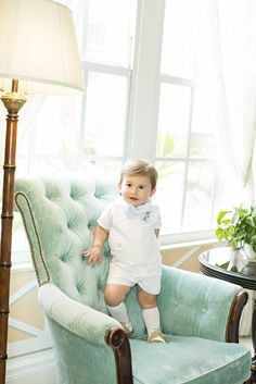 This Pique Jon Jon is perfect for any sweet and sophisticated little sport.  He'll look so put together whether he's brunching or building a fort. Adding a Bayl