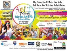 Grand Holi Dhamaal - Vernon Hills Indian Association - Come Join Us in the Celebration! at CENTURY PARK, VERNON HILLS, 1001 Lakeview Parkway, Vernon Hills, IL, Tickets, Indian Events Desi Events