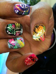 Multi lines by kimtuyenho - Nail Art Gallery nailartgallery.nailsmag.com by Nails Magazine www.nailsmag.com #nailart