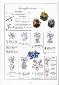 Фиалки | biser.info - всё о бисере и бисерном творчестве