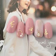 Modest, pink, pearl - New Ideas Trendy Nail Art, Cute Nail Art, Gel Nail Art, Asian Nails, Korean Nails, Pastel Nails, Pink Nails, Red Nail, Nail Swag