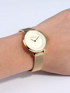 skagen watches women gold - www. Elegant Watches, Stylish Watches, Beautiful Watches, Cool Watches, Luxury Watches, Cheap Watches, Gold Watches Women, Watches For Men, Skagen Watches