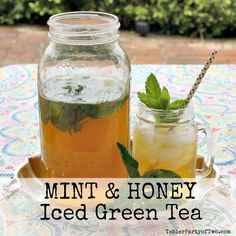 Mint and Honey Iced Green Tea. I'm a hug fan of Sweet Leaf Organic ...