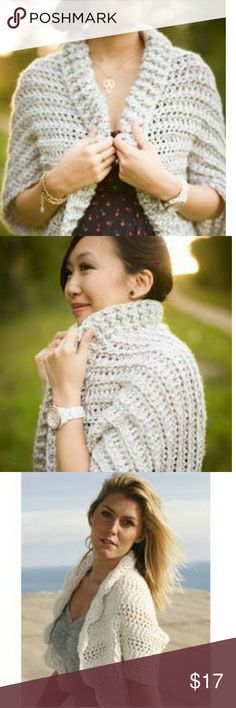 Crochet Shrug The Forever 21 crochet shrug is a modern spin on a classic look!!!! Beautiful ivory/tan hue! 100% Acrylic. Size small. NWT. Never been worn. Smoke and pet free home. Forever 21 Sweaters Shrugs & Ponchos