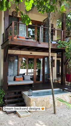 Village House Design, House Front Design, Village Houses, Small House Design, Dream Home Design, Modern House Design, Villa Design, Tropical House Design, Modern Tropical House