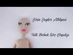 Telli Bebek Yapılışı - YouTube Double Crochet, Single Crochet, Crochet Dolls, Crochet Hats, Amigurumi Tutorial, Doll Eyes, Amigurumi Doll, Youtube, How To Make