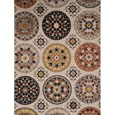 Andover Mills Medallion Brown Area Rug & Reviews | Wayfair