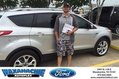 Happy Anniversary to Michael on your #Ford #Escape from Justin Bowers at Waxahachie Ford!  https://deliverymaxx.com/DealerReviews.aspx?DealerCode=E749  #Anniversary #WaxahachieFord