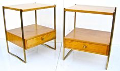 Pair of Kittinger Modernist Side Tables | From a unique collection of antique and modern side tables at https://www.1stdibs.com/furniture/tables/side-tables/