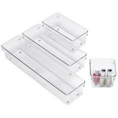 Linus™ Deep Drawer Organizers from Container Store. Also available in shallow. Vitamins?