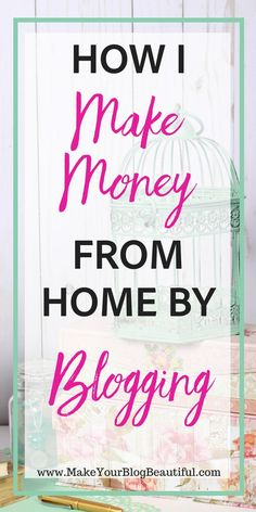 Need extra money? Blogging is a great way to make extra money at home! Many bloggers are able to leave their jobs and make a full time income from home, all by starting a blog. Let me show you how to start a blog from scratch. You can be up and running with your blog today! Start A Blog   Make Extra Money   Make Money At Home   Side Hustle