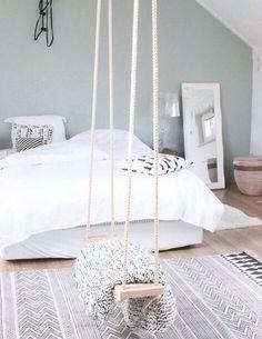 16 Relaxing Scandinavian Bedroom Design Ideas - Best Home Remodel Bedroom Loft, Cozy Bedroom, Bedroom Inspo, Home Decor Bedroom, Bedroom Ideas, Girls Bedroom Furniture, Bedroom Girls, Master Bedroom, Doctor House