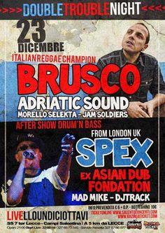 #Brusco in #concerto martedì 23 #Dicembre 2014 al Livello Undiciottavi di #Trepuzzi (Le)