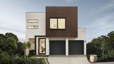 With 4 or 5 bedroom house plans there's room for your modern family to grow in the Derwent home design. Facade Design, Exterior Design, House Design, Rawson Homes, 5 Bedroom House Plans, Display Homes, Contemporary Home Decor, Facade Architecture, Story House