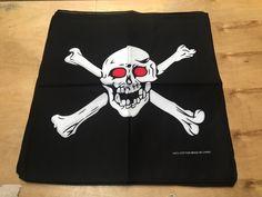 """Skull Bandanas Crossbones Red Eyes (12 PK) 22"""" x 22"""" 100% Cotton"""