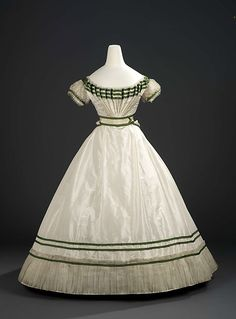 Evening dress ca. 1867 From the Royal Ontario Museum