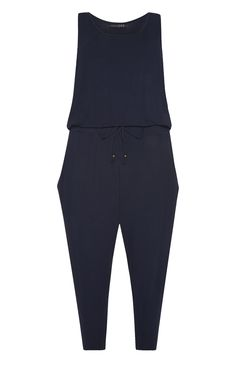 Primark - Donkerblauwe jumpsuit met pijpen in Capri-lengte