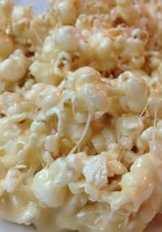 This stuff is awesome! Perfect movie night treat!! - I made these with marshmallow creme b/c I didn't have marshmallows, adjusted it for a smaller batch  and it turned out great..adding a bit of sea salt makes it like salted caramel popcorn! Yummy! Marshmallow Caramel Corn. 1/2 c. brown sugar 1/2 c. butter 9-10 marshmallows 12 c. popcorn. Microwave brown sugar and butter for 2 minutes. Add marshmallows. Microwave until melted, 1 1/2 to 2 minutes. Pour over popcorn.