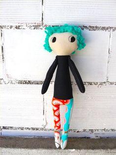 50 cm. Muñeca Megan de ojos grandes y pelo por AntonAntonThings