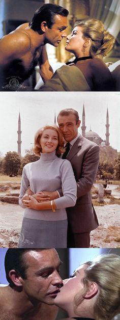 Sean Connery as 'James Bond' & Daniela Bianchi as 'Tatiana Romanova' in From Russia with Love (1963)