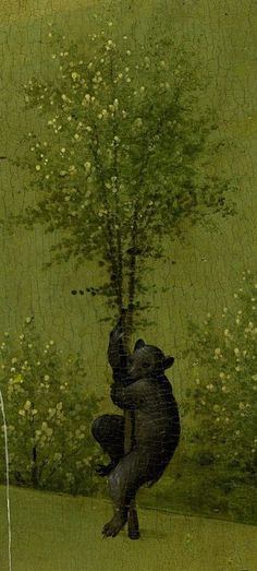 Detail in a zoomable context. Detail from The Garden Of Earthly Delights, Hieronymus Bosch Hieronymus Bosch, Art Et Illustration, Illustrations, Arte Tribal, Garden Of Earthly Delights, Dutch Painters, Bear Art, Medieval Art, Art Plastique