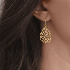 NauticalWheeler — Coral Reef Earrings - Gold