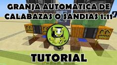 Tutorial Minecraft   Granja automática de calabazas o sandias usando obs...