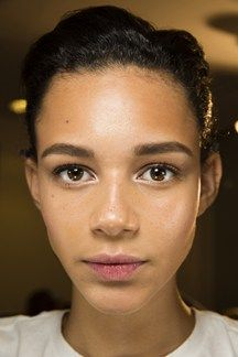 Backstage Versace SS15 Leona Binx Walton. obsessed with her face. Love the minimal beauty at alot of shows recently. dem brows