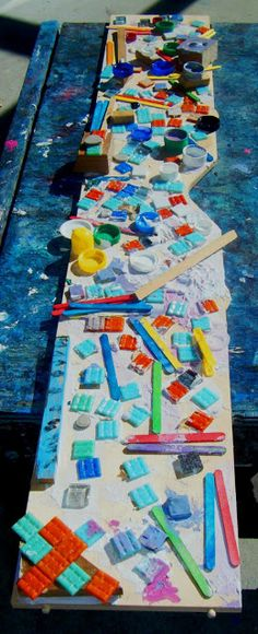 let the children play: creating mosaics with preschool children- ongoing group project