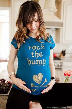 Rock your Bump in style with this teal maternity tee!!