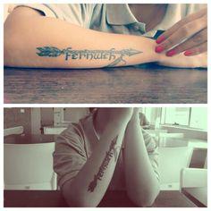 #Fernweh #tattoo #arm #wonderlust #arrow