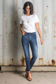Keep it tight with this contemporary classic. Skinny legs and a form-fitting cut offer deliver the best in style. Skinny Fit Jeans, Skinny Legs, Contemporary Classic, Fall Winter, Tights, Denim, Chic, Tops, Style