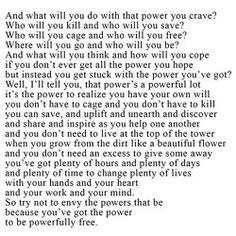 Be powerful. ~Dallas Clayton