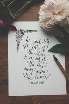Taylor Swift Wildest Dreams Lyrics Quote by aLittleBirdieToldMee