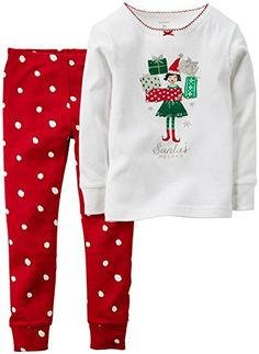Carters Baby Girls 2 Piece PJ Set Baby  Elf  18 Months -- Click on the image for additional details.