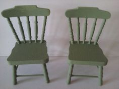 dollhouse wooden chairs in the colour of by SmallthingsbyAmanda, £4.95