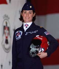 Maj. Nicole Malachowski is the first woman pilot on the U.S. Air Force Thunderbirds.