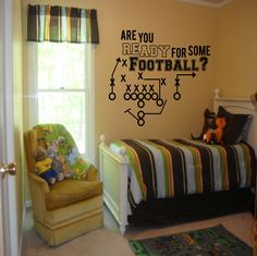 Are You Ready for Some Football decal - boys room decor, football decal, Football decor, football decals, football wall decals by SportsVinyl on Etsy https://www.etsy.com/listing/205560144/are-you-ready-for-some-football-decal