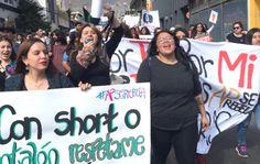 Continúan las marchas feministas contra el gobierno de Chile  #OlaFeminista #Chile #MarchaFeminista #EquidadGenero