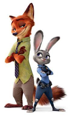 Nick Wilde and Judy Hopps
