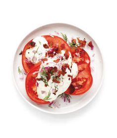 Tomatoes With Ranch Dressing  Whisk together mayonnaise, sour cream, and milk to make the cool, creamy dressing.