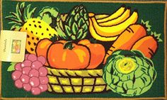 Best Kictchen Rugs | Fresh Fruit  Vegetables Kitchen Rug Mat 18 X 30 *** Continue to the product at the image link. Note:It is Affiliate Link to Amazon.