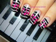 New ideas for nails art black music notes Music Note Nails, Music Nail Art, Music Nails, Black Nail Designs, Colorful Nail Designs, Nail Polish Designs, Nail Art Designs, Nails Design, Love Nails